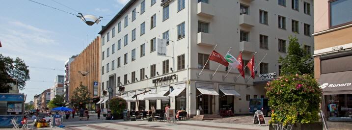 Suojeltuun kiinteistöön viilennys huomaamattomasti – Hotelli Scandic Plaza