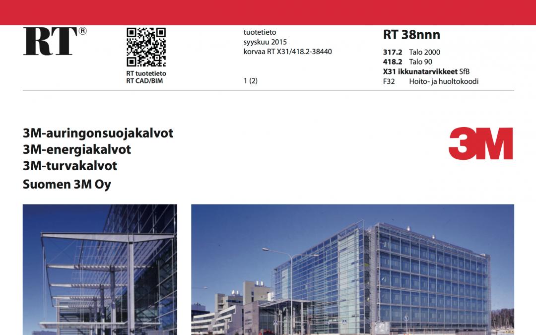 RT-kortti 3M ikkunakalvot